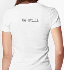 Be Still Women's Fitted T-Shirt