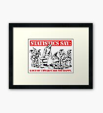 Statistics Say: 6 out of 7 dwarfs are not happy. Framed Print