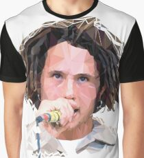 Zack De La Rocha Poly Art Graphic T-Shirt