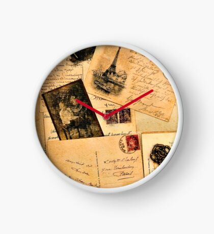 Vintage letters and postcards 2 Clock