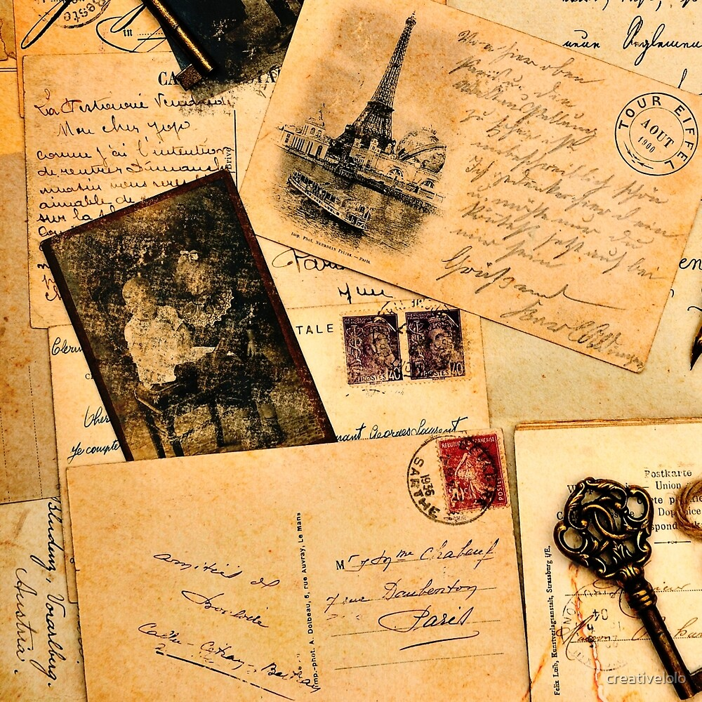 Vintage letters and postcards 2 by creativelolo