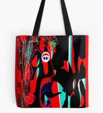 Blue Tongue Man, from (Mickeys Art And Design) Tote Bag