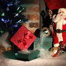Christmas Scene. Greeting card. by Maryna Gumenyuk