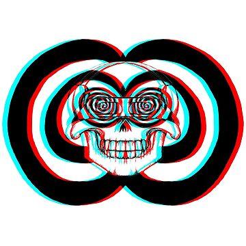Stereoscopic Skull 3d by Tiduk