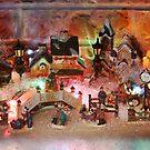 Miniature Christmas Village background by Maryna Gumenyuk