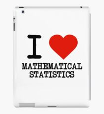 I Love Mathematical Statistics iPad Case/Skin
