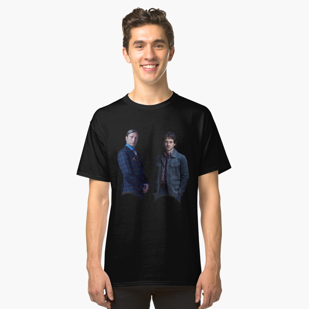Will Graham and Hannibal Lecter Classic T-Shirt Front