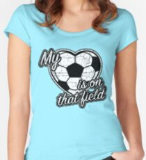 Soccer mom t-shirt  Women's Fitted Scoop T-Shirt
