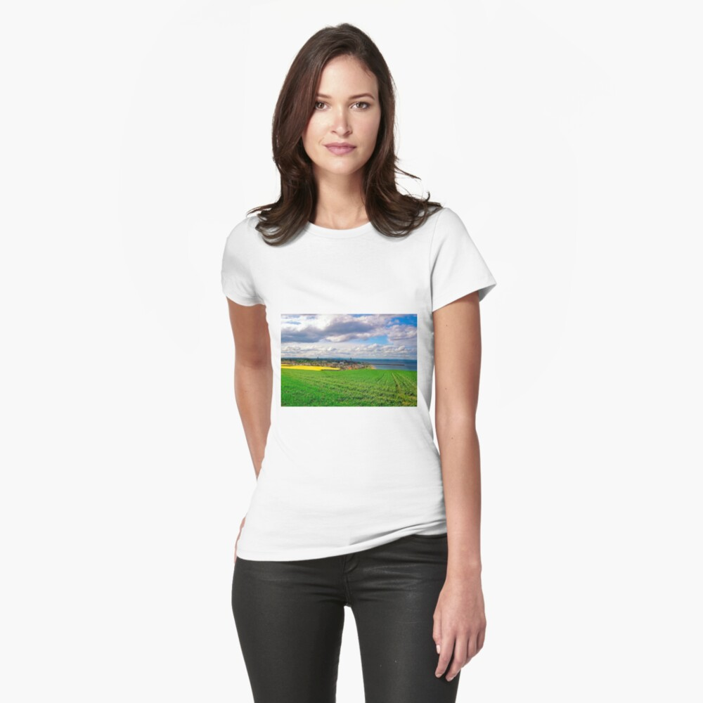Clouds over St. Andrews by the Sea Womens T-Shirt Front