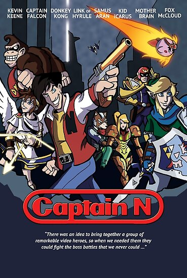 captain n poster posters by cockroachman redbubble