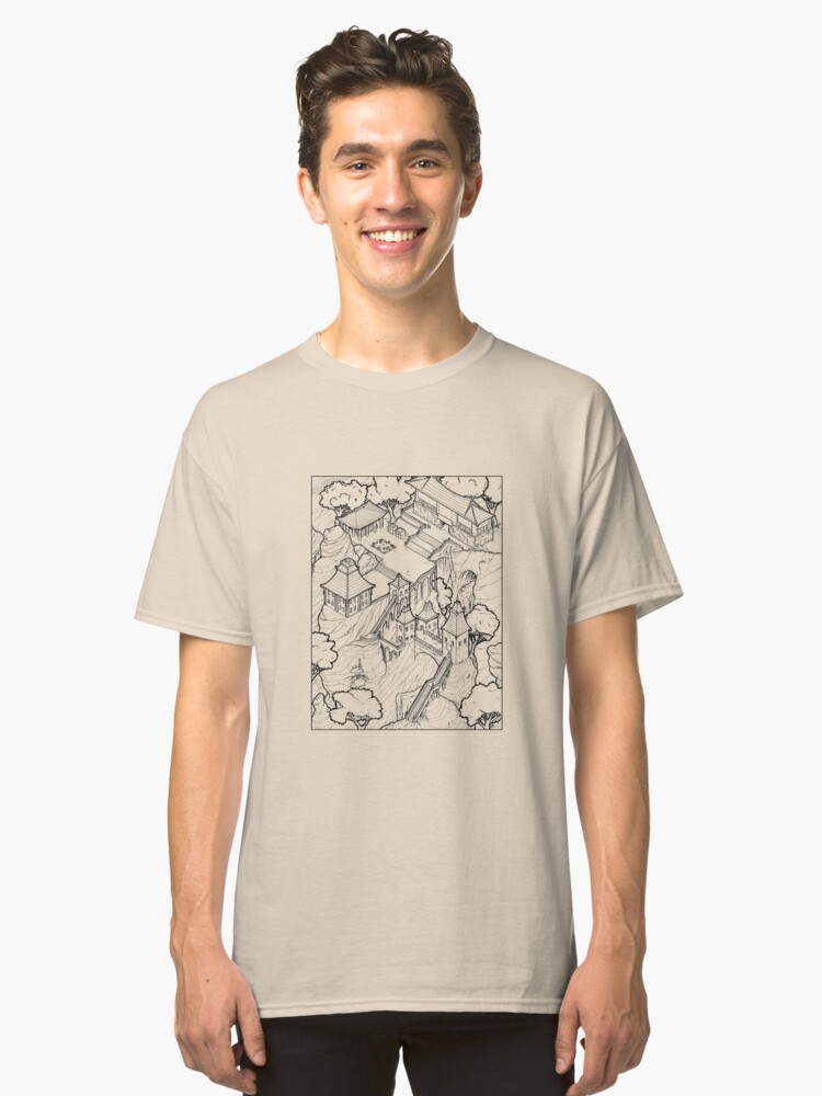 Purple Cloud Monastery Classic T-Shirt Front