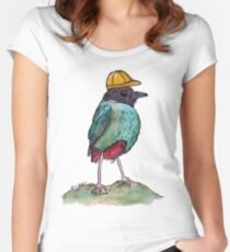 Construction Hooded Pitta Women's Fitted Scoop T-Shirt