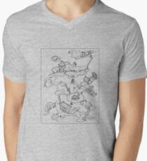 Purple Caverns V-Neck T-Shirt