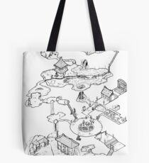 Purple Caverns Tote Bag