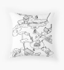 Purple Caverns Throw Pillow