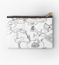 Purple Caverns Zipper Pouch
