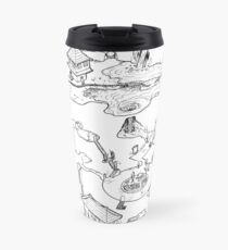 Purple Caverns Travel Mug
