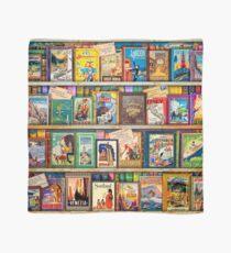 Travel Guide Book Shelf Scarf