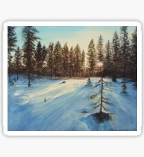 Freezing Forest Sticker