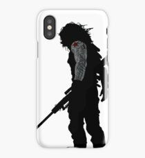 winter soldier silhouette iPhone Case