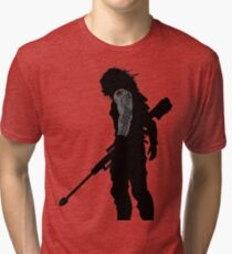 winter soldier silhouette Tri-blend T-Shirt