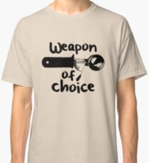 Weapons of choice - Ice Cream - Black Classic T-Shirt