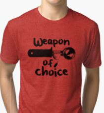 Weapons of choice - Ice Cream - Black Tri-blend T-Shirt