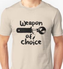 Weapons of choice - Ice Cream - Black T-Shirt