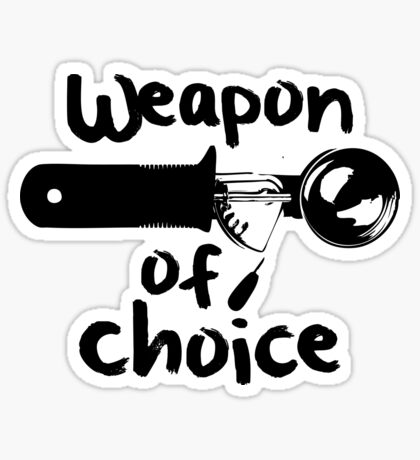 Weapons of choice - Ice Cream - Black Sticker