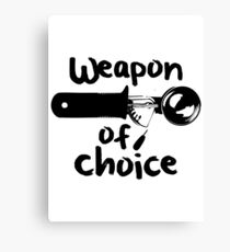 Weapons of choice - Ice Cream - Black Canvas Print