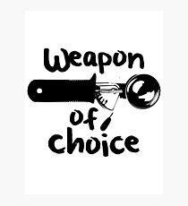 Weapons of choice - Ice Cream - Black Photographic Print