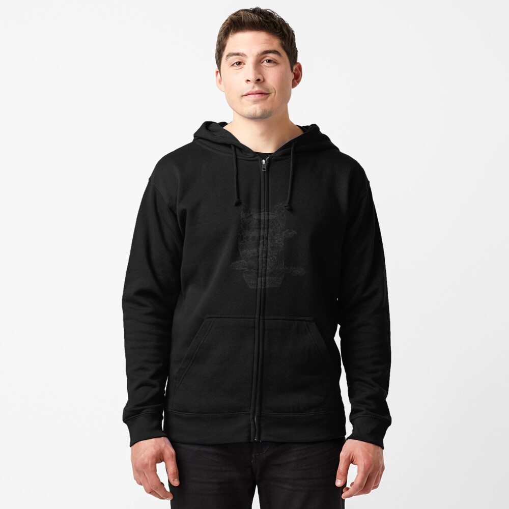 The Cleft of Five Worlds Zipped Hoodie
