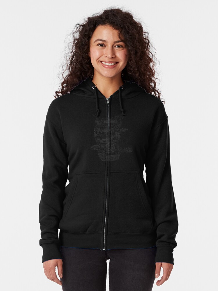 Alternate view of The Cleft of Five Worlds Zipped Hoodie