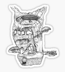 The Cleft of Five Worlds Sticker