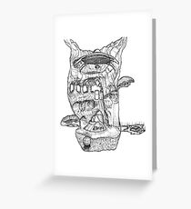 The Cleft of Five Worlds Greeting Card