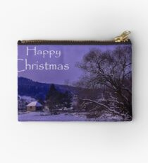 Happy Christmas Zipper Pouch