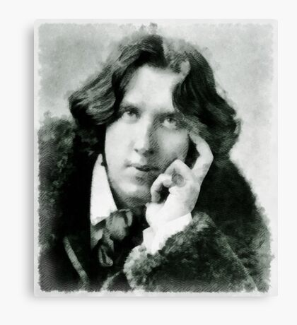 Oscar Wilde, playwright and author Canvas Print