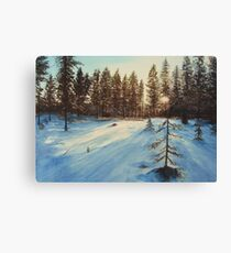 Freezing Forest Canvas Print
