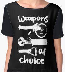 Weapons of choice - Full Set - White Women's Chiffon Top