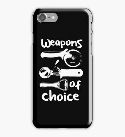 Weapons of choice - Full Set - White iPhone Case/Skin