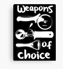 Weapons of choice - Full Set - White Canvas Print