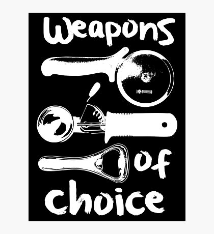 Weapons of choice - Full Set - White Photographic Print