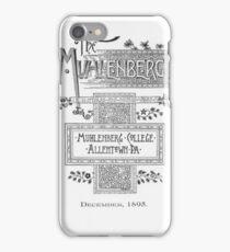 Muhlenberg Weekly  iPhone Case/Skin