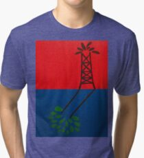 Oil over Trees Acrylic Painting Tri-blend T-Shirt