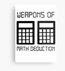 Math deduction Metal Print