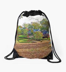 An American Suburb Drawstring Bag