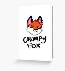 Grumpy Fox Greeting Card