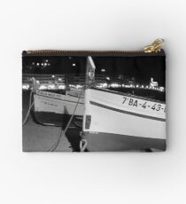 Wooden Spanish Boats on the Beach Studio Pouch
