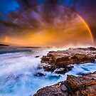 Awesome rainbow sunset by Paul Foley