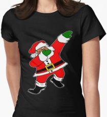 Dab Black Santa Women's Fitted T-Shirt